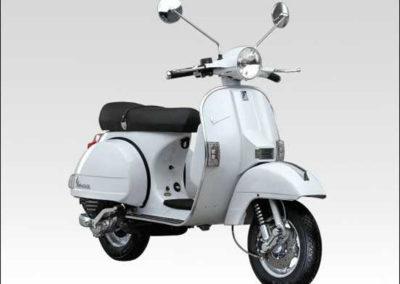 Vespa PX250 front rhs grey