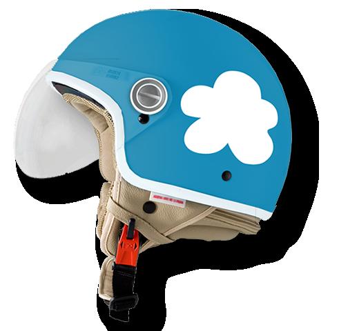 casco en las nubes